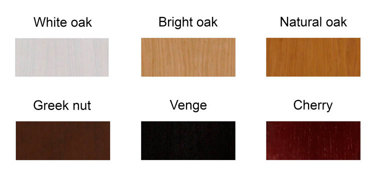 Available colors of the decorative panels - Malyn furniture factory, PE