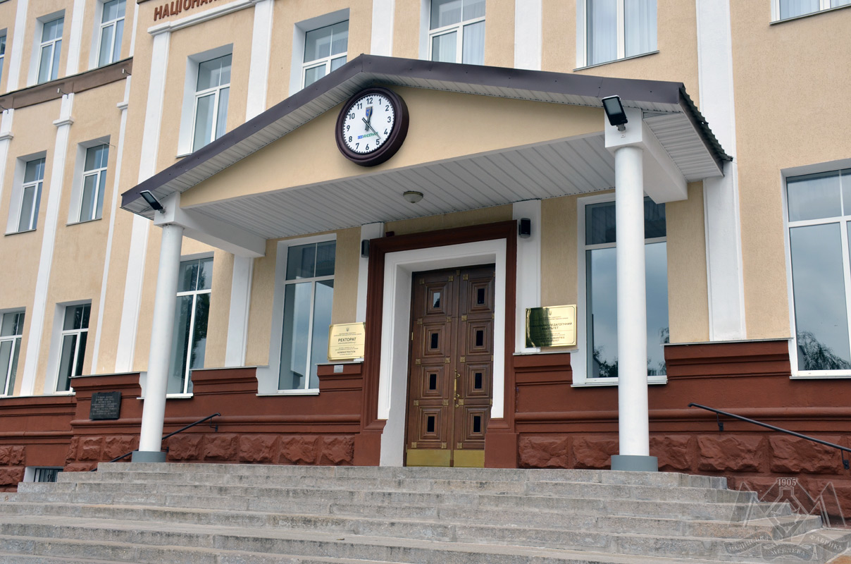 Entrance doors for National University of Life and Environmental Sciences of Ukraine